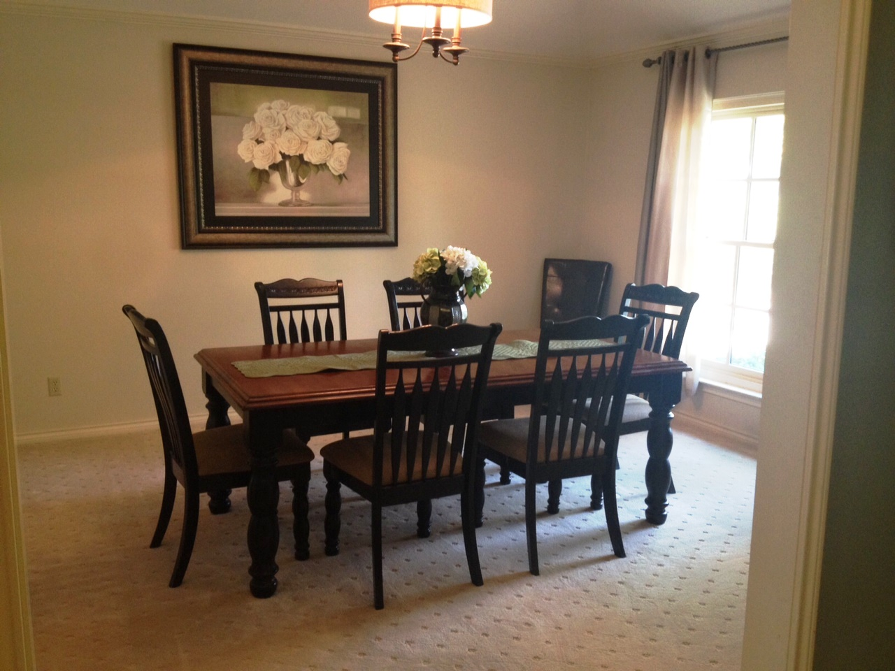 I Decided I Wanted A Very Formal Dining Room, With A Modern And Classy  Color Scheme, And Seating For A Large Group. I Chose Cement Gray Paint From  The ...