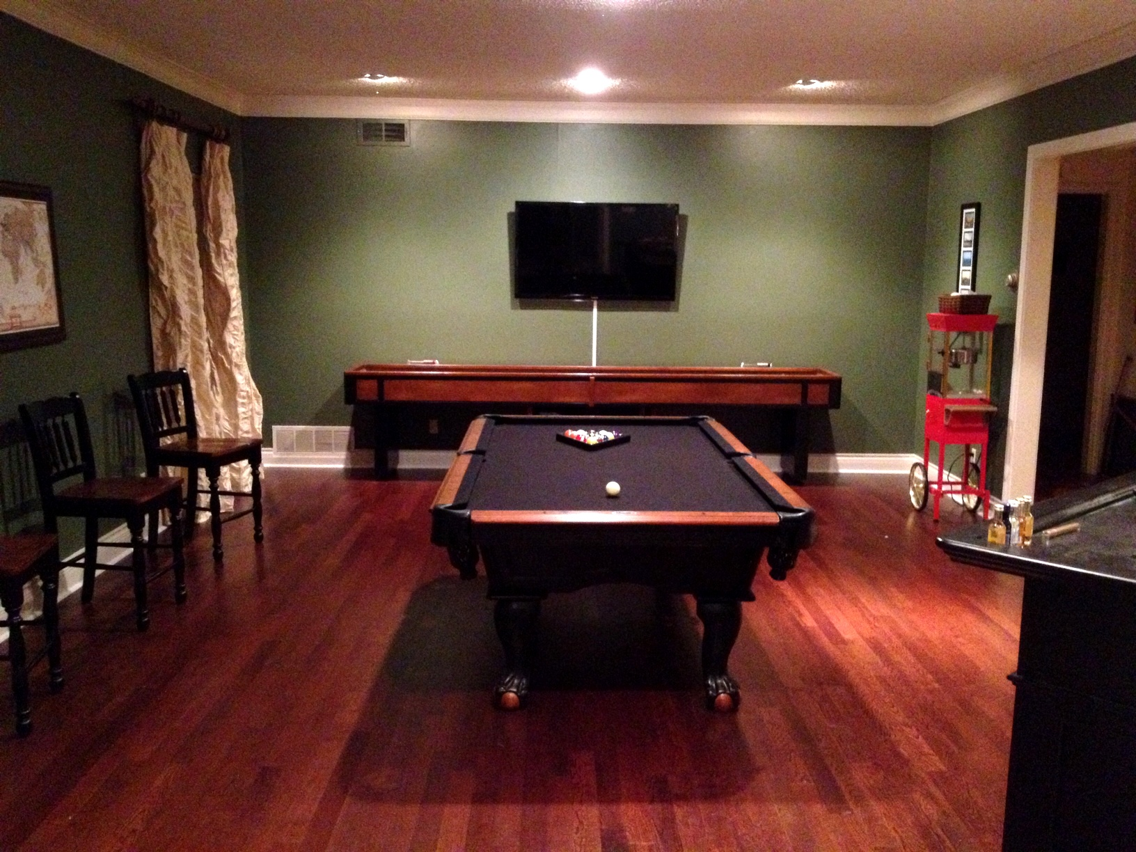 My Favorite Color Is You The Game Room Transformation - Pool table painting